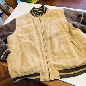 Sean Jean tan/brown bomber jacket  XL